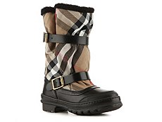 Burberry House Check Canvas Buckle Boot