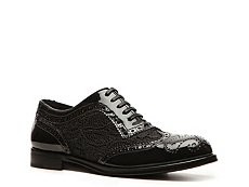 Dolce & Gabbana Patent Leather & Lace Oxford