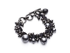 Lanvin Pearls and Gros Grains Bracelet