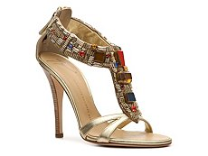 Giuseppe Zanotti Metallic Leather Beaded Sandal