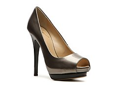 Giuseppe Zanotti Metallic Patent Leather Peep Toe Pump