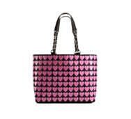 Betsey Johnson Plastik Hearts Tote