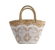 Flora Bella Nimes Crochet Straw Tote