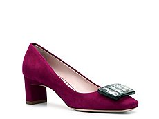 Miu Miu Suede Buckle Pump