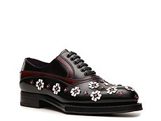 Prada Leather Floral Oxford