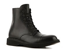 Prada Leather Cap Toe Boot