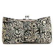 Lulu Townsend Brocade Bow Frame Clutch