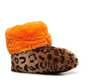 Dearfoams Cheetah Fur Slipper Boot