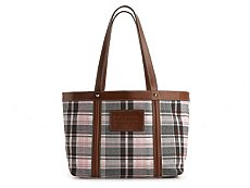 Dolce & Gabbana Canvas Plaid Tote