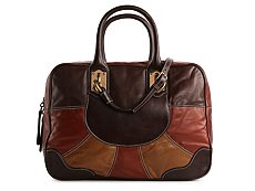 Dolce & Gabbana Leather Color Block Satchel