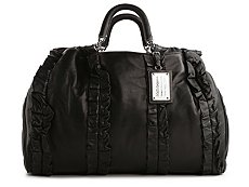 Dolce & Gabbana Leather Ruffle Tote