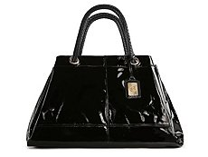 Roberto Cavalli Patent Leather Woven Handle Tote