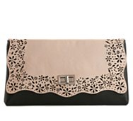 Poppie Jones Lace Cutout Flap Clutch