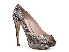 Miu Miu Reptile Leather Peep Toe Pump