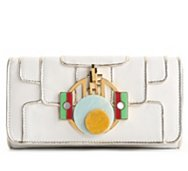Roberto Cavalli Leather Ornament Clutch