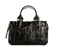 Chloe Patent Leather Zip Pocket Satchel