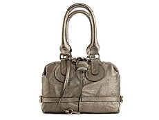 Chloe Leather Lock and Key Satchel