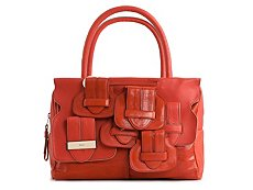Chloe Leather Buckle Satchel