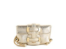 Roberto Cavalli Leather Buckle Wristlet