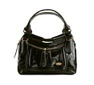 Chloe Patent Leather Oversize Zip Satchel