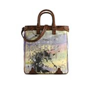 Roberto Cavalli Painted Canvas Tote