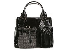 Chloe Patent Leather Pocket Satchel