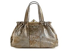 Roberto Cavalli Leather Push Lock Shoulder Bag