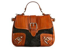 Dolce & Gabbana Leather & Fur Top Handle Satchel