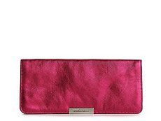 Dolce & Gabbana Metallic Leather Foldover Clutch