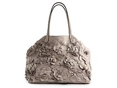 Valentino Floral Leather Embellished Tote