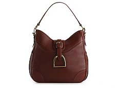 Ralph Lauren Collection Leather Foldover Buckle Hobo