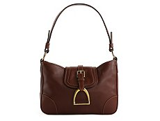 Ralph Lauren Collection Leather Foldover Buckle Shoulder Bag