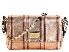 Dolce & Gabbana Metallic Leather Beaded Chain Shoulder bag
