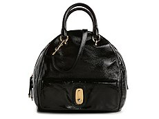 Dolce & Gabbana Leather Patent Bowler Satchel