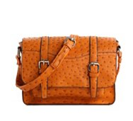 Kelly & Katie Monroe Ostrich Crossbody Bag