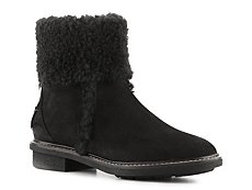 Fendi Nubuck Leather Shearling Bootie