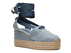 Ralph Lauren Collection Uma Linen Wedge Sandal