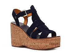 Ralph Lauren Collection Chandra Suede Wedge Sandal