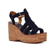 Ralph Lauren Collection Chandra Suede Wedge Sandal