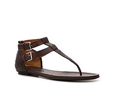 Ralph Lauren Collection Viella Leather Flat Sandal