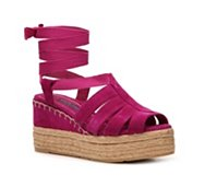 Ralph Lauren Collection Umeeda Suede Wedge Sandal