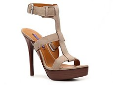 Ralph Lauren Collection Babette Suede Platform Sandal