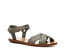 Ralph Lauren Collection Maralyn Raffia Flat Sandal