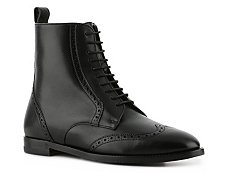 Ralph Lauren Collection Brenly Leather Wingtip Bootie