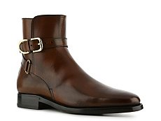 Ralph Lauren Collection Macon Burnished Leather Buckle Boot