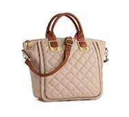 Steve Madden Gammit Quilted Zipper Satchel