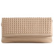 Aldo Change Tonal Stud Flap Clutch