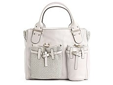 Chloe Leather Pocket Satchel