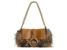 Dolce & Gabbana Fur Covered Shoulder Bag
