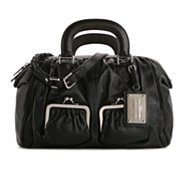 Dolce & Gabbana Leather Push Lock Pocket Satchel